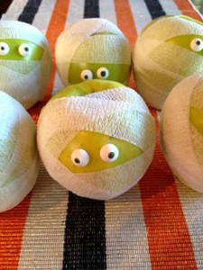 Mummy Apples are a healthy, and easy, treat for Halloween