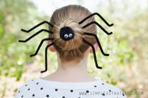 The writers over at Simple As That Blog know how to create a Halloween hairdo